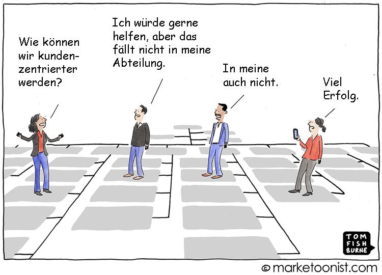 Cartoon: Banken auf der Suche nach mehr Kundenzentrierung