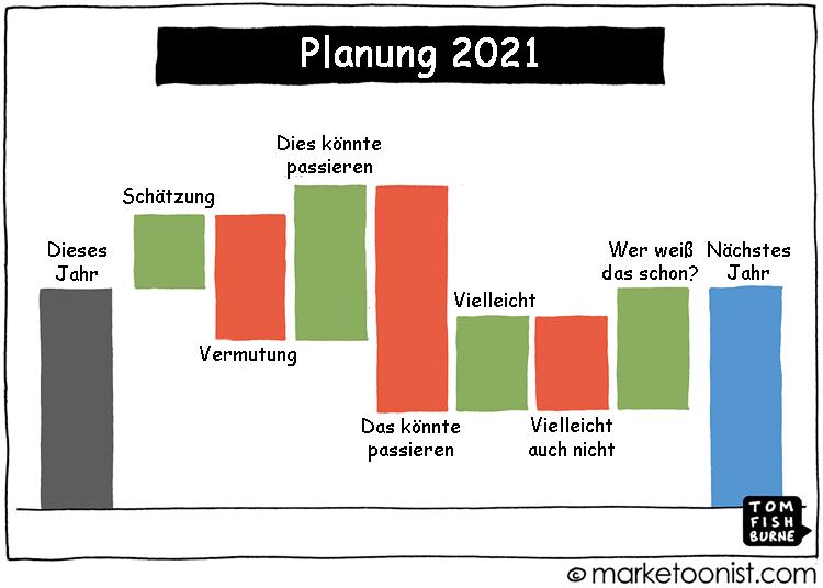 Cartoon: Herausforderungen der Planung
