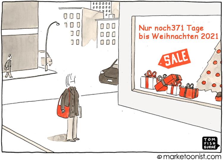 Cartoon: Sonderverkaufsaktion in der Weihnachtszeit