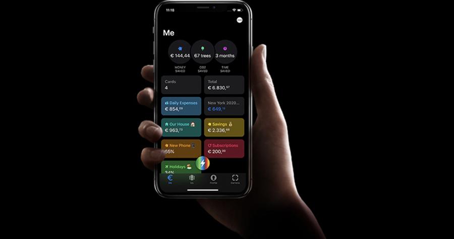 Screenshot von der Website der mobilen Neobank Bunq