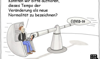 Cartoon: Die Corona-Pandemie erhöht das Tempo der Veränderung