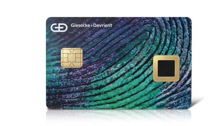 Biometrische Bezahlkarte mit Fingerabdruckleser
