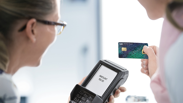 Bezahlen mit einer biometrischen Bezahlkarte