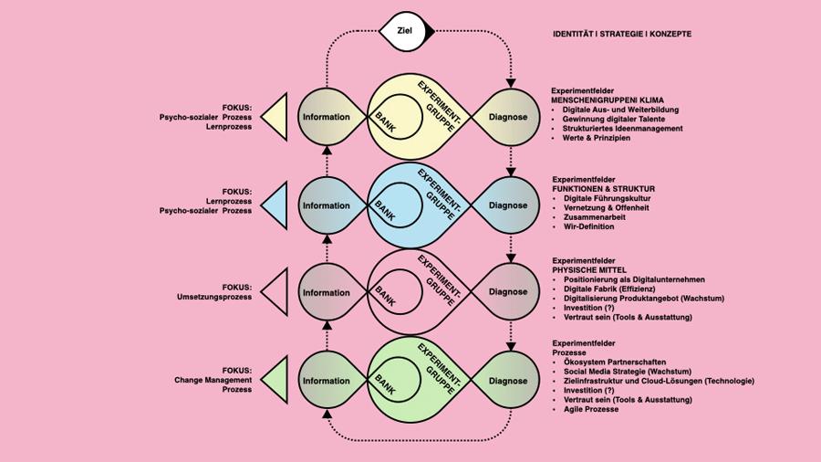 Vorgehensmodell der agilen Transformation auf Beratersprech