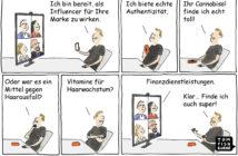 Cartoon: Influencer Marketing für Finanzdienstleistungen