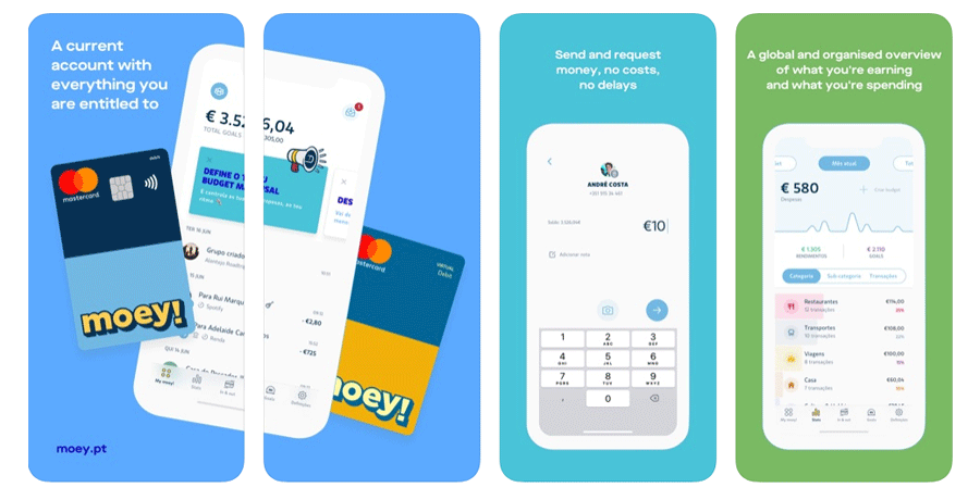 Moey!-Banking-App der portugiesischen Crédito Agrícola