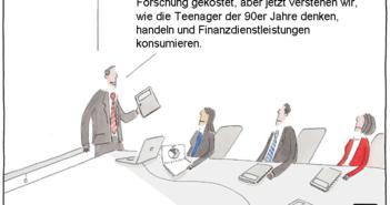Cartoon: Junge Bankkunden besser verstehen