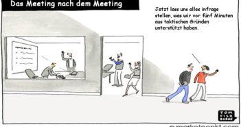 Das Meeting nach dem Meeting - Cartoon