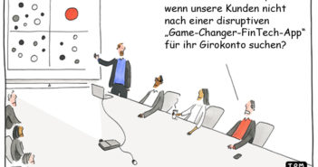 Die Grenzen der Innovation – Cartoon