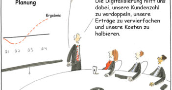 Die Digitalisierung löst nicht alle Probleme - Cartoon