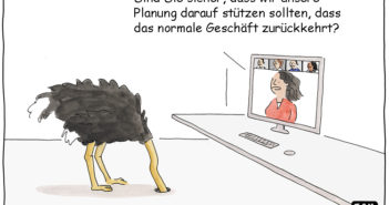 Cartoon: Planung in Zeiten der Corona-Krise