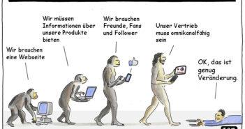 Cartoon: Evolution der digitalen Transformation